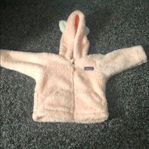 Baby girl Patagonia pink jacket size 3 - 6 months